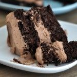 Decadent Chocolate Cake with Whipped Chocolate Frosting {Shockingly Gluten-Free!}