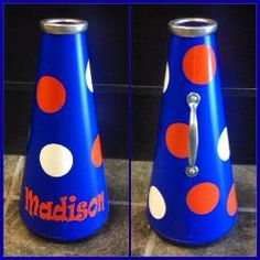 Bue and Orange small megaphone!  Makes a great birthday gift for a young cheerleader.