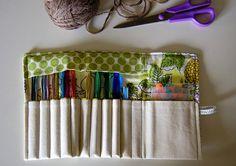Three Peas Crochet Hook CAse, pattern by Sew Darn Cute
