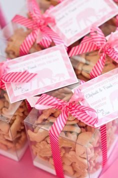 Animal Cracker Favors - Did this with the frosted animal cookies, and turned out great!!