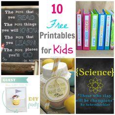 10 FREE Back to School Printables via createcraftlove.com