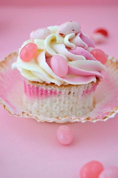 Angel Food Cupcakes with Jelly Beans