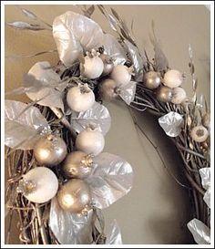 silver grapevine wreath