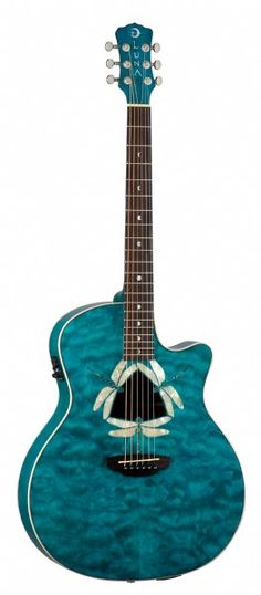 Fauna Dragonfly Quilted Maple Acoustic/Electric, Grand Concert    BCR Music & Sound - www.bcrmusic.com - (717) 730-9775