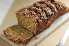 Pumpkin Bread with Pecan Streusel