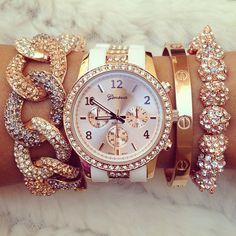 gold jewellery, arm party, fashion styles, fashion bracelets, watch, diamond, accessories, jewelri, arm candies
