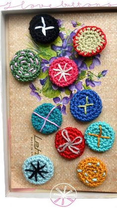 """Free pic tutorial for """"Crochet Buttons""""!"""