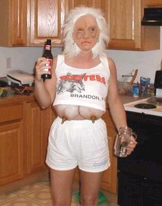 Hooters Granny Costume... This is probably the scariest Halloween costume I've ever seen.