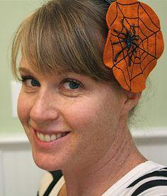Halloween - Felt Spiderweb headband.