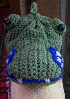 Gator Crochet Hat