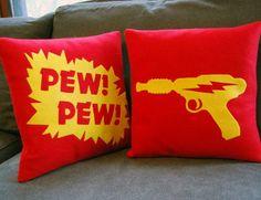 room stuff, pillow, geek room, pew pew pew, comic books, doctor who, random stuff, black friday, gun