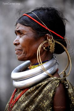 Gadaba tribal woman in traditional attire. The Gadabas live primarily in Orissa, Madhya Pradesh and Andhra Pradesh, India http://www.flickr.com/photos/indiaphotography/6152268786/in/photostream/