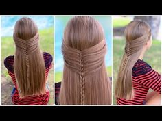 Tutorial for the amazing Mermaid Half Braid!  #mermaid #mermaids #braid #braids #cutegirlshairstyles #hairstyles