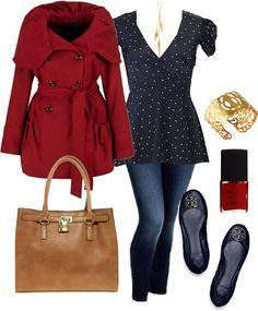 """Navy & Red - Plus Size"" by alexawebb ❤ liked on Polyvore"