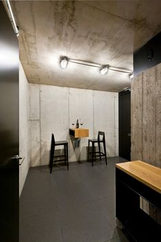 an intimate space for a glass of wine