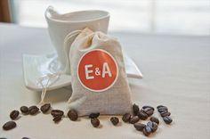 warm favor ideas for winter weddings | coffee beans