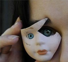eye and porcelain face