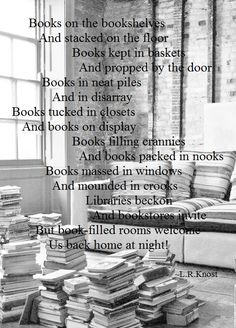 Books on the bookshe