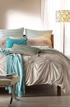 Love this Duvet cover and whole look. [Nordstrom at Home 'Chloe' Duvet Cover | Nordstrom]