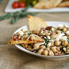 Hungry Couple: Mediterranean Chickpea Salad and the Art of Parties with @president america america Cheese