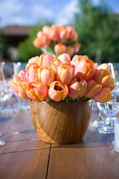 nothing like a big bowl of tulips  Photography by catherinehall.net, Floral Design by ericarosedesign.com
