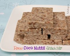 Raw Coco Nutty Snack Bar - I felt in need of a new snack bar that would satisfy that salty/sweet craving. This bar holds together well and freezes well. Wrap it up in wax paper and you have a healthy, handy, go-to snack for when you are on the run. #food #paleo #grainfree #glutenfree #dairyfree #snack #raw #coconut #nuts #snackbar #soakednuts #almonds #pecans