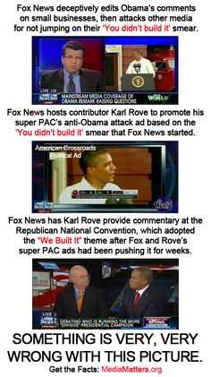 "How the ""Fox News Cycle"" can have a significant impact on Republican politics. Step 1: They develop a smear. Step 2: They criticize other media for not covering their smear. Step 3: They use unethical practices to push that smear. Step 4: The Fox News smear becomes a Republican theme."
