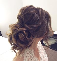 Soft updo, bridal ha