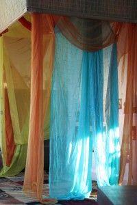 Curtains in a Reggio classroom