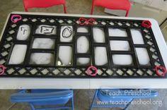 rectangles preschool shape, individu frame, picture frames, teach preschool, pictur frame, motor skill