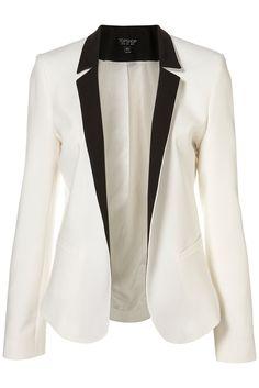 I am still obsessed with a white tuxedo blazer