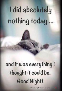 Σήμερα δεν έκανα τίποτε..