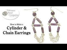 Make Cylinder & Chain Earrings - YouTube