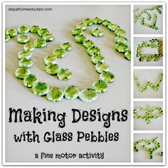 Making Designs with Glass Pebbles A Fine Motor Activity - Pinned by @PediaStaff – Please Visit  ht.ly/63sNt for all our pediatric therapy pins