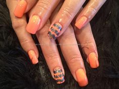 Sweet morning dew gelish gel polish with charcoal grey freehand nail art