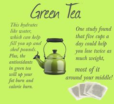 Green tea helps shed pounds!