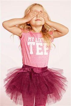 "Pink ""My Little Tee"" Top (3mths-6yrs)"