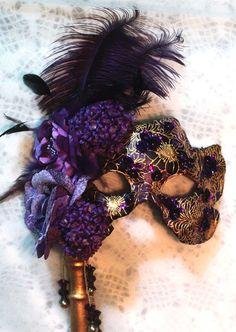 purple, violet royal, purpl mask, masks, floral mask