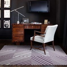 Cozy and cocooning home office