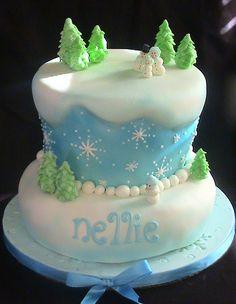 Kids Birthday Cake, winter... winter snow, winter cakes, idea, christmas cakes, winter wonderland, kid birthday cakes, kid birthdays, christma cake, winter birthday