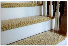 Peel and stick carpet stair treads - DIY Treads - interesting option