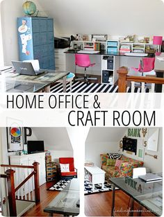 The Craft Room and Home Office Are Done! You are going to love this streamlined room with gorgeous vintage details.   www.findinghomeonline.com
