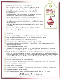 Erin & Nina's 25 Christmas Traditions List @Erin B Carroll @ Blue-Eyed Bride