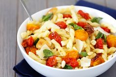Pasta with Slow-Roasted Tomatoes, Garlic & Parmesan {Gimme Some Oven}