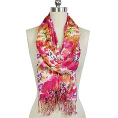 Flower Garden Scarf Orange