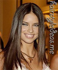 #hairideas salon, model, hairstyles, hair colors, dark hair, long hair, adriana lima, brown hair, stylish hair