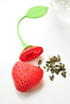 Strawberry Tea Filter   www.dreamteaboutique.com/shop/strawberry-tea-filter/#