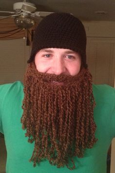 Halloween costume  Duck dynasty duck commander inspired hat and beard Jase Robertson look. $45.00, via Etsy.