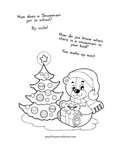 Free Printable Christmas Coloring Pages (with jokes!) | Coloring and Activity Pages at Letters from Santa www.easyfreesantaletter.com