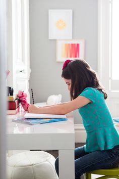 Parson's Desk for Girl's Room - Project Nursery